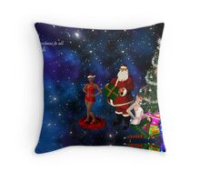Merry Christmas to all of my friends Throw Pillow