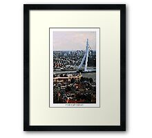 Pixel Art Cities: Rotterdam Framed Print