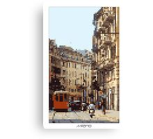 Pixel Art Cities: Milan Canvas Print