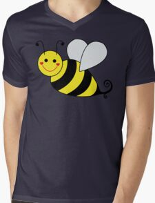 Bumble Bee Graphic Mens V-Neck T-Shirt