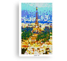 Pixel Art Cities: Paris Canvas Print