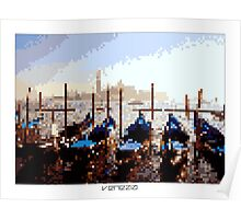 Pixel Art Cities: Venice Poster