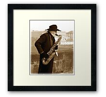 I guess that's why they call it the blues Framed Print
