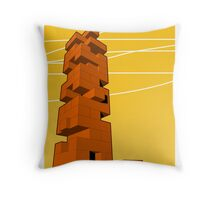 J-building Throw Pillow
