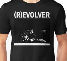 (R)EVOLVER print (white on black) Unisex T-Shirt