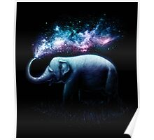Elephant Splash Poster