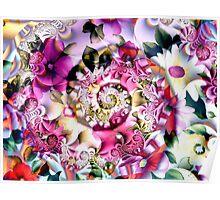 Flower Spiral Poster