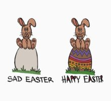 Sad or happy Easter One Piece - Short Sleeve