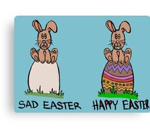 Sad or happy Easter Canvas Print