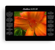 Matthew 6:24-34 Canvas Print