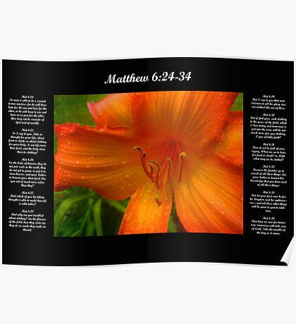Matthew 6:24-34 Poster