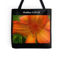 Matthew 6:24-34 Tote Bag