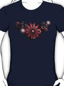 Grunge Flower Red T-Shirt