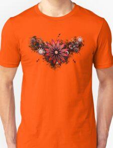 Grunge Flower Red Unisex T-Shirt