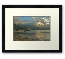 Hanalei Bay Evening Framed Print