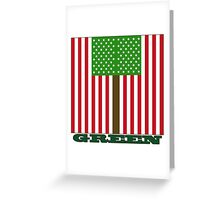 Green US Flag Greeting Card