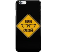 Nerds crossing. Caution sign. iPhone Case/Skin