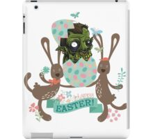 Funny monster hatching Easter egg cute Easter bunnies iPad Case/Skin
