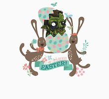 Funny monster hatching Easter egg cute Easter bunnies Unisex T-Shirt