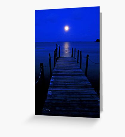 Bridge to the moon Greeting Card