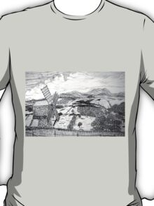 Traditional Romanian Windmill with a View, Barda Village - all products T-Shirt