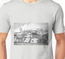 Traditional Romanian Windmill with a View, Barda Village Unisex T-Shirt
