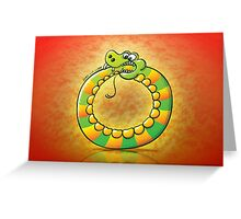 Snake Biting its own Tail Greeting Card