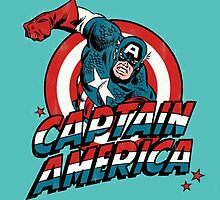 Captain America Retro Comic by zamora