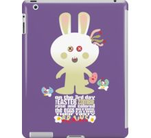 cute zombie bunny eating Easter egg brains iPad Case/Skin