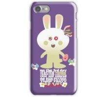 cute zombie bunny eating Easter egg brains iPhone Case/Skin