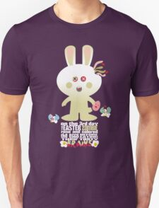cute zombie bunny eating Easter egg brains Unisex T-Shirt