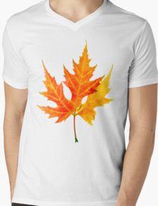 autumn maple-leaf Mens V-Neck T-Shirt