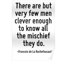There are but very few men clever enough to know all the mischief they do. Poster