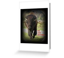 Bison Animal We Are Moving.... Card Greeting Card