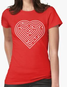 Labyrinth Heart Womens Fitted T-Shirt