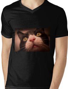 Pink Cat Nose Mens V-Neck T-Shirt