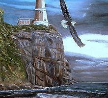 Lighthouse Eagle by KenLePoidevin
