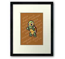 Squirtle Turtle - Mikey Framed Print