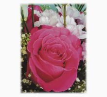 Pink rose in bouquet Baby Tee