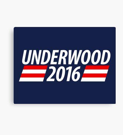 Underwood 2016 shirt campaign poster mug Canvas Print