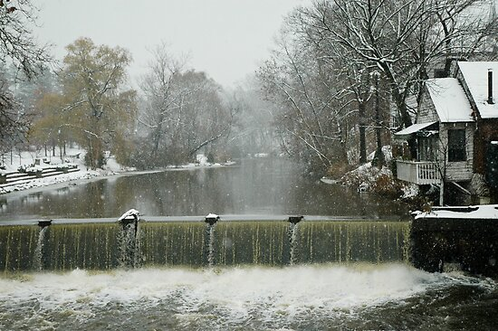 Winter by the falls by Leonard Flagg