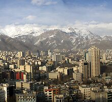 Tehran skyline by Norman Repacholi
