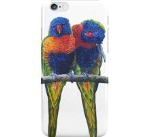 Rainbow lorikeets and original painting iPhone Case/Skin