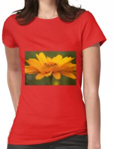 Yellow Flow Womens Fitted T-Shirt