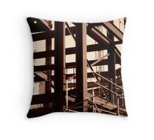 Steel Frame Construction Throw Pillow