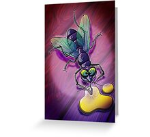 Naughty Smiling Fly Greeting Card