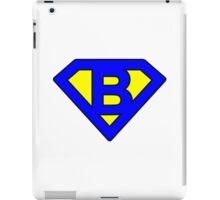 B letter iPad Case/Skin