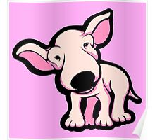 Cute EBT Puppy Baby Pale Pink  Poster