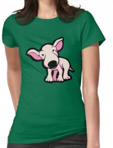 Cute EBT Puppy Baby Pale Pink  Womens Fitted T-Shirt