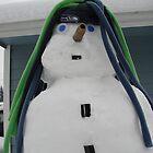 Seahawks Snowman by Danielle Morin